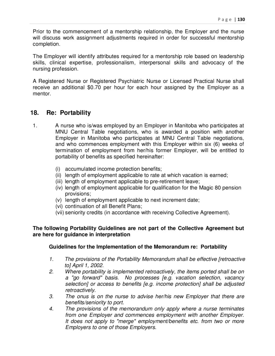 Collective Agreements – Collective Bargaining Agreement Template