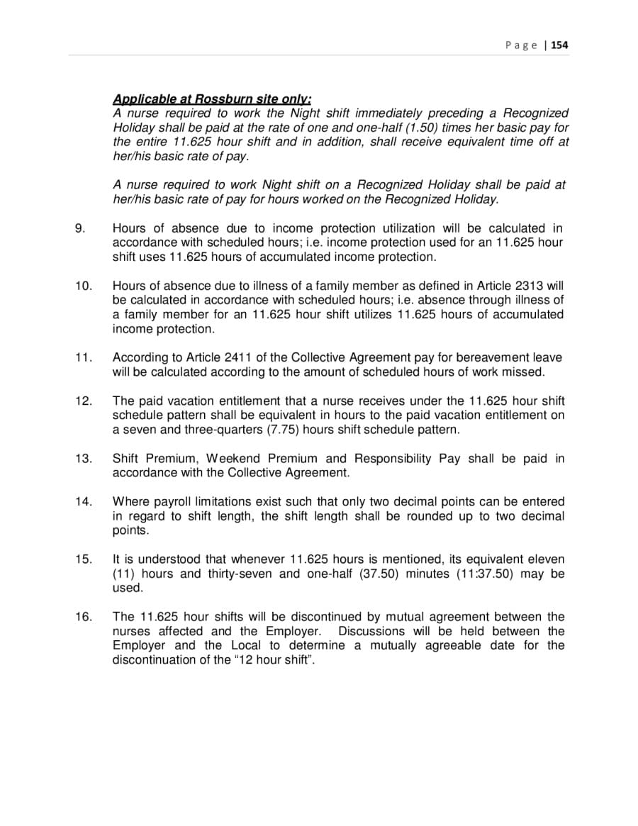 Collective Agreements – Mutual Understanding Agreement Format